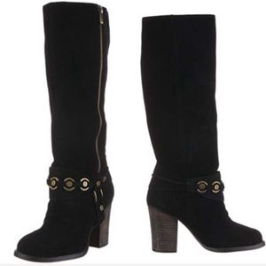 Chinese Laundry Backstreet Suede Knee High Boots